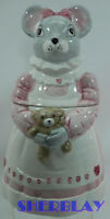 VINTAGE MELINDA MOUSE WITH A TEDDY BEAR COOKIE JAR FROM THE HOUSE OF LLOYD 1990