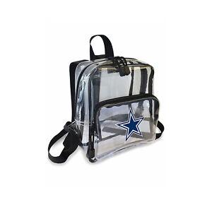 "Football Dallas Cowboys Mini Clear Stadium Backpack 10"" x 3"" x 8"" Licensed"