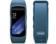 Samsung Gear Fit 2 Android Smartwatch Watch GPS Sports Band Blue Large Fit2