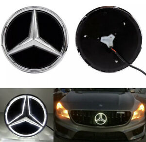 Mirror Car Led Star Logo Grille Badge Light For Mercedes Benz C Class 2019-2020