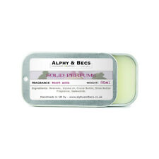 Alphy&Becs Natural Solid Perfume for Women White Musk 20ml Handmade In UK