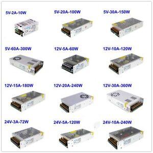 1Pcs DC 5V/12V/24V/36V/48V Universal Regulated Switch Power Supply Driver LED
