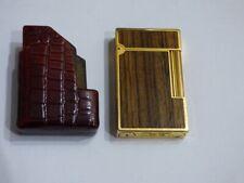 Lovely ST Dupont for Davidoff Cigar Lighter - Wood Panels/Gold Plated Trim/Case