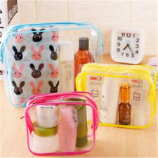 Clear Makeup Bag Set Travel Cosmetic Transparent PVC Toiletry Bags Pouch Wash T3