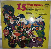 """15 Walt Disney Favorites"" Stereo Vinyl 12"" 1972 SPC 3180 PICKWICK/33 RECORDS"