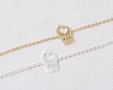 18K Gold or Silver Plated 2 Giraffes Love Heart Bracelet USA Seller