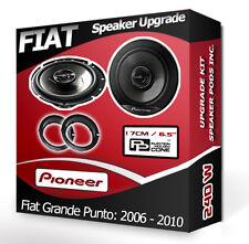 Fiat Grande Punto Front Door Speaker Pioneer car speakers + adapter pods 240W