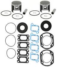 2 SPI Piston Kits, Full Gasket Kit Ski-Doo 440 MXZ Fan Touring LE Skandic 67.5mm