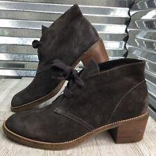 Dolce Vita Women's Desert Boot Block Heel Comfort Green Suede Shoe Size 12
