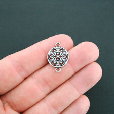 8 Snowflake Connector Charms Antique Silver Tone Flower Charm - SC4674