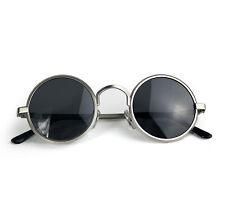 round silver sunglasses 1970s polarized lens retro Steampunk Hi Tek