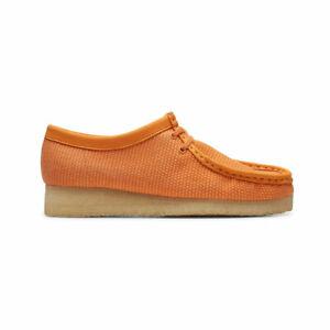 Clarks Originals Men's Wallabee Orange Textile 50099 SZ 7-12 New 100%