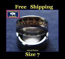 Masonic Freemasonic Silver & Gold Ring, Tungsten Steel - Size 7
