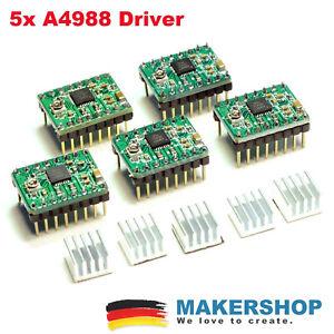 5x A4988 Stepper Motor Schrittmotor Treiber Driver 3D Drucker RepRap Ramps Po...