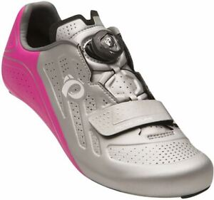 PEARL iZUMi Ladies / Women's Bicycle Cycle Elite Road V5 Shoes Silver / Pink