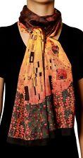Silk like Gustav Klimt Art Series Scarves and Shawls, Large Size