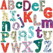 BOHO ALPHABET LETTERS wall stickers 110 decals school decor nursery personalize