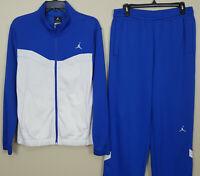 NIKE AIR JORDAN BASKETBALL SUIT JACKET + PANTS ROYAL BLUE WHITE (SMALL / MEDIUM)
