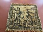 """Vintage Tapestry-15""""x15""""-Man & Woman in the Desert- Biblical Look-CHARMING- SALE"""