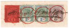 (I.B-BOB) Sierra Leone Revenue : Stamp Duty £1 4/6d