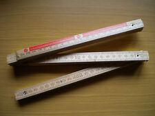 ZOLLSTOCK   #   2  Meter   #  Aus Holz   #  Braun    #   N E U   #