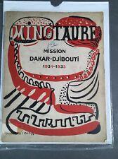 Minotaure Surrealist  Albert Skira  Andre Breton Mission Dakar-Djibouti