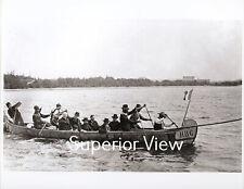 Hudson Bay Company Canoe Giant Fur Trading Canoe Catholic Priests First Nation
