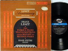 WESTMINSTER STEREO Liszt Anniversary EGON PETRI Mozart Transcriptions WST-14149