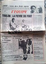L'Equipe Journal 17/10/1985; Toulon; la fièvre du Foot/ SIx Jours de Paris; Mott