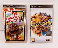 2 Jeux : All Stars et Little big Planet Complet Sony PSP En Francais
