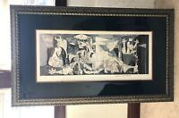 Framed Edition Print Pablo Picasso Guernica Framed Size 55x32.5""