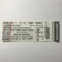 Five Finger Death Punch Breaking Benjamin Midflorida Concert Ticket Stub 2018