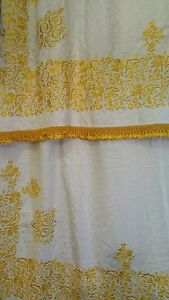 Safran silk on cotton bedcover
