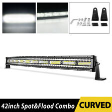 42 inch 1050W Curved LED Light Bar 3 TRI-ROW Combo Off-road Driving Work MPV 42""