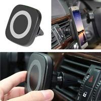 Magnetische Qi Wireless Ladegerät Ladestation Standard+Auto Air Vent Phone Mount