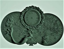 Navy map wall clock 3d model relief for cnc router in STL file format clock
