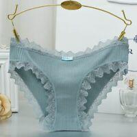 Fashion Women Lace Underwear Cotton Breathable Briefs Hipster Panties Underpants
