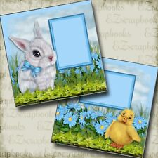 EASTER  FRIENDS - 2 Premade Scrapbook Pages - EZ Layout 2857