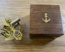 Stanley London Brass Nautical Sexton In Wood Box 4.5�