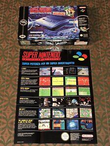 Super Nintendo SNES Boxato con SCATOLA PAL ITA Console 16 Bit GIG Anni 90