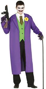 Déguisement Homme CLOWN Violet L style Le Joker Batman Film Cinéma COMICS NEUF