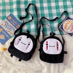 Kawaii No Face man Plush Shoulder Bag Crossbody Bag Purse Japanese Cute Handbag