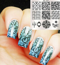 BORN PRETTY Nail Art Stamping Plates Baroque Image Stamp Template 6*6cm BP-X01