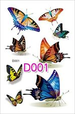 3d Farfalla Tatuaggio Temporaneo Multicolore Farfalla Retro Tatuaggio Henna Tattoo
