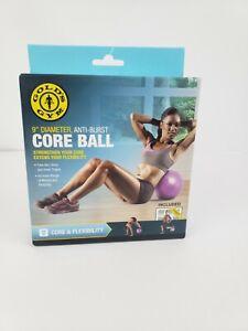 "Gold's Gym Anti-Burst Core Ball Purple 9"" Diameter NEW"