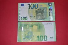 REAL NEW 100 EURO BANKNOTE BILL - ISSUE-MAY-2019-ECZ-EUROPEAN-CENTRAL BANK UNC