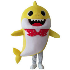 Yellow Baby Shark Mascot Costume Fancy Party Dress Birthday Costume