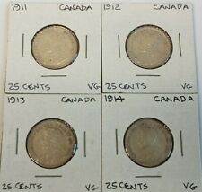 1911 - 1914 Canada 25 Cents KM# 24 silver coin(s)