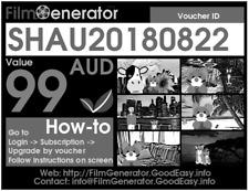 FilmGenerator Voucher, $99