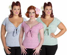 Cotton Cap Sleeve Tops & Shirts for Women's 50s